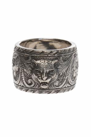 Tiger motif ring od Gucci
